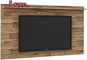 Artely Slim Wall Panel for 60 inch TV, Rustic Brown, W 180 cm x D 15 cm x H 98cm