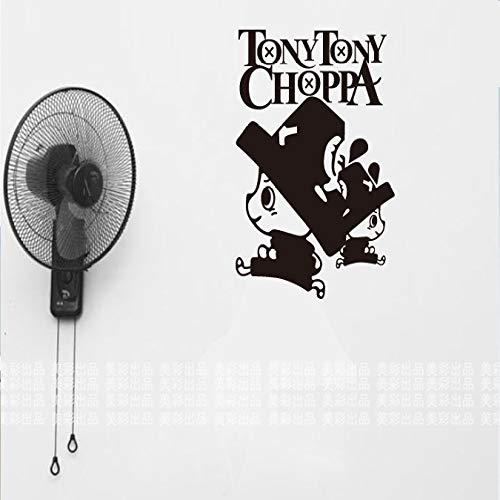 yaoxingfu Tony Chopper One Piece Auto Wandaufkleber Japanische Abziehbilder Vinyl Aufkleber Aufkleber Dekoration weiß 58x82 cm