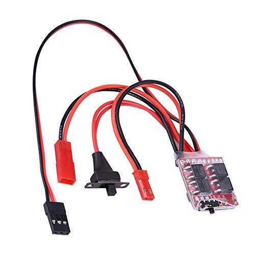 Dilwe RC Auto ESC, 20A Brushed PCB Elektronischer Drehzahlregler mit Bremse für RC Auto / Boot Fernbedienung Ersatzteil Zubehör