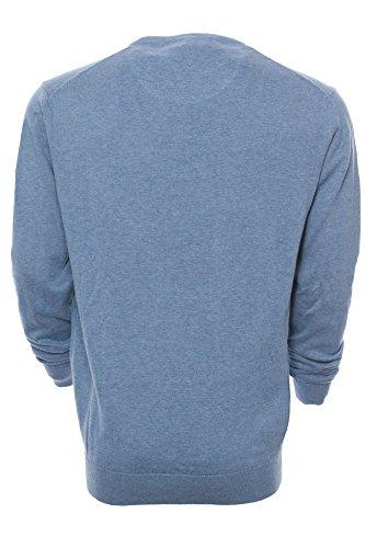 Kitaro Herren Pullover Feinstrickpullover BASIC Blau
