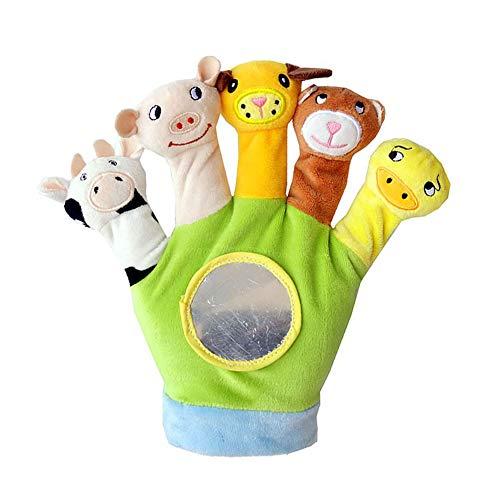 Marioneta mano guante animal traqueteo bebé primera