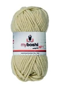 myboshi Nr 1 Lot de 10 pelotes de laine Beige 50 g + 3 étiquettes myboshi