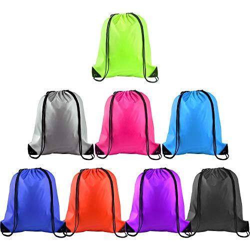 delzug Rucksack String Bag Tote Sack Tasche Cinch Sportbeutel Aufbewahrungstasche Rucksack für Gym Sport Reise Lagerung, 8 Farben (8 Colors, 8pcs) ()