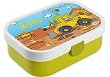 Mein Zwergenland Brotdose Mepal Campus mit Bento Box und Gabel mit eigenem Namen Lime, Baustelle