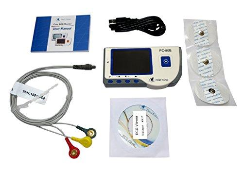 ekg tragbar Healforce PC-80B Herz EKG-Monitor Datenrekorder mit Software