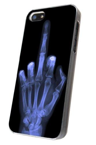 Iphone 5/5S motif radio de main de squelette design fashion trend coque de protection en plastique et métal