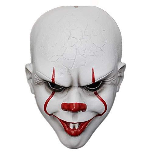 Knochen Durch Kopf Kostüm - Bnmgh Clown Kopf Für Horror Maske Scary Kostüme Cosplay für Neuheit Zombie Haunted House Party Halloween Dekoration