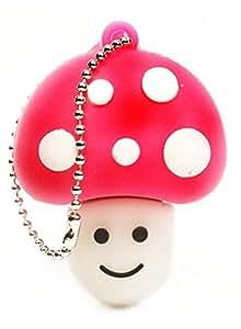 Magie Champignon Clé USB Drive 4 Go dans Coffret Cadeau avec E.T. INSIDE Marque Stylo Capacitif (Rose)