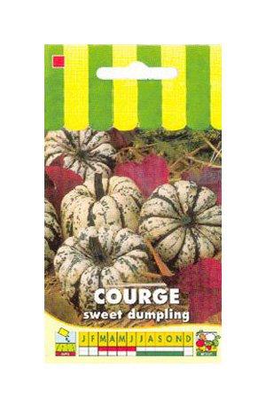Les Graines Bocquet - Graines De Courge Sweet Dumpling/Patidou - Graines Potagères À Semer - Sachet De 3Grammes