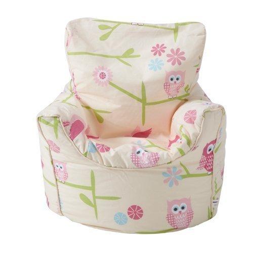 Ready Steady Bett Kinder Sitzsack Sessel Eulen Design Bereit Gefüllt
