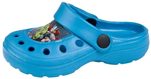 Avengers Boys Beach Sandals Clogs Mules Summer Character Shoes Size UK 6-12