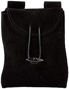 Epic Armoury-Leatherbag Thin-Black-S Bolsa, color negro, (Iron Fortress IF-101640)