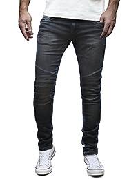 MERISH Biker Jeans Hommes Slim Fit Denim Divers lavages et couleurs Modell J1166