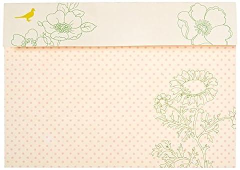 Mara-mi Rose Pois et fleurs Peek-A-Boo Imprintable Invitation, 10-count (90338)