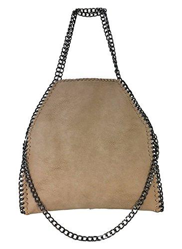 Fashion & You Muta Catena Borsa A Mano Tracolla Shopper Chain Bag Rosa Rosso Crema Blu M2 Kaki Più Grande