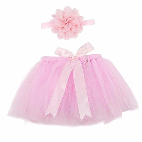 Demarkt Niñas bebés Trajes apoyo de la fotografía Costume Outfits (rosado)
