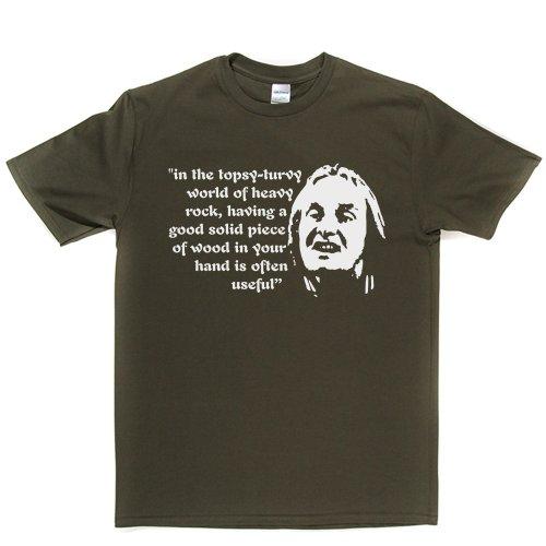 Ian Faith Spinal Tap American Rock 1980s Heavy Metal Tee T-shirt Militärgrün