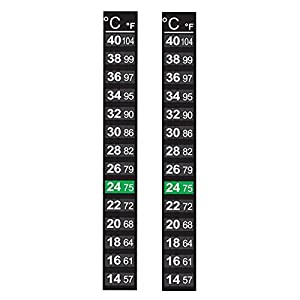 Pack of 2 x Aquarium and Homebrew Adhesive 14-40C Thermometer – Liquid Crystal Display – New Liquid Crystal Technology