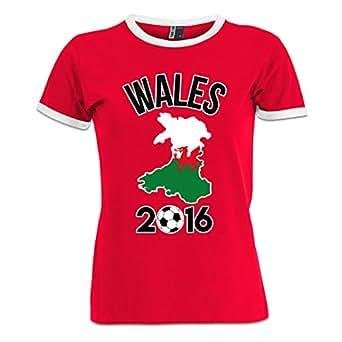 Wales 2016 Fan Frauen Ringer Shirt by Shirtcity