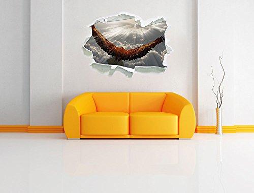 Adler über den Wolken , Papier 3D-Wandsticker Wanddekoration 3D-Wandaufkleber Wandtattoo