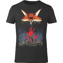 GOZOO The Witcher T-Shirt Herren Fox 100% Baumwolle Schwarz