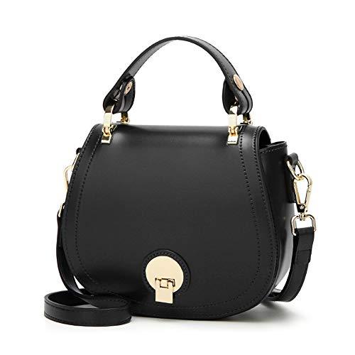 Womens Mikrofaser Leder Schulter Messenger Bag und Handtaschen mit Einer Kette Schultergurt und Leder Schultergurt Geeignet für Shopping, Reisen, etc,Black - Mikrofaser-schulter-handtasche