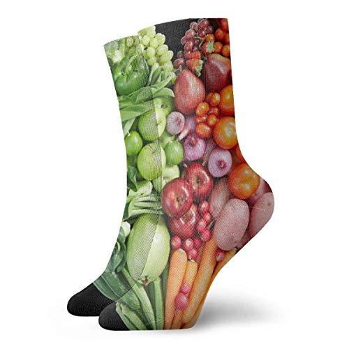 dfegyfr Socken für Damen und Herren, Herzform, Gemüse und Früchte