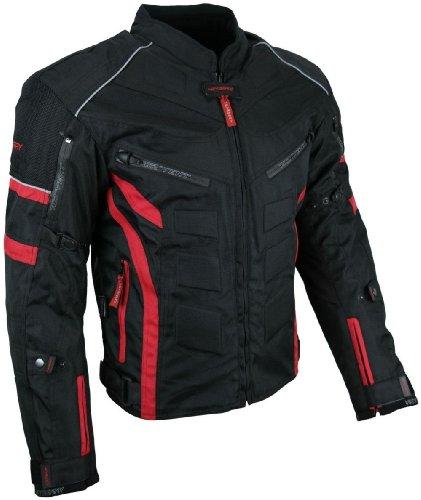 Kurze Textil Motorrad Jacke Motorradjacke Schwarz Rot Gr. M (Rot Motorrad-jacke)