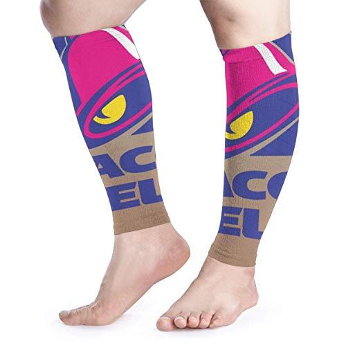 Zcfhike Calf Compression Sleeves Taco Bell Logo Leg Support Socks for Women Men 1 Pair -