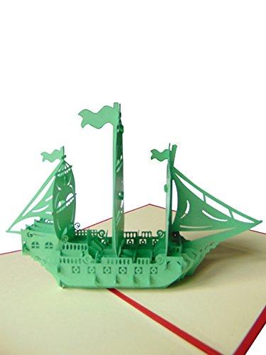 Pu46 Bezaubernde 3D Pop Up Gutscheinkarte mit Umschlag, Gutschein für Reisen, Ereignisse oder andere besondere Anlässe, Grußkarte als Geschenk, auch für Geburtstag, Einladung oder Genesung geeignet