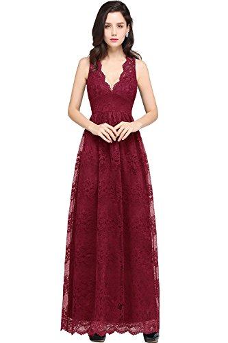 MisShow® Strapless Brautjungfer Kleider kurz Chiffon Abendkleid mit Falte besetzt Ballkleid (Strapless Kleid Brautjungfer)