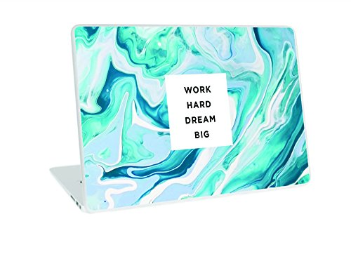 "Galaxsia Work Hard Dream Big Vinyl Skin Sticker Art Decal Cover for 11.6"" 12.1"" 13"" 13.1"" 13.3"" 14"" 15"" 15.4"" 15.6"" Laptop Notebook"