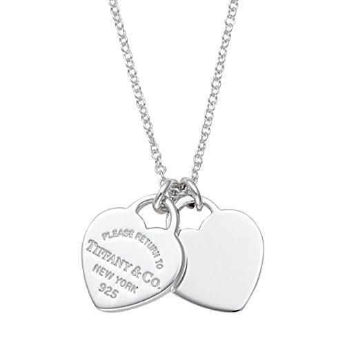 Tiffany 22309307 Halskette mit Doppelherz-Anhänger, Sterlingsilber