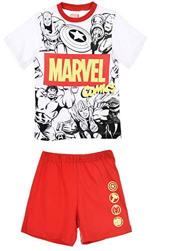 Marvel Comics Kinder Glow In The Dark Pyjama Set (Rot, 8 Jahre)