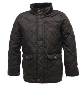 Regatta Boy's Bruiser Insulated Jacket - Black/Black, Size 3-4