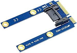 Cy Mini Leiterplatten Verlängerungsadapter 50 Mm Pci E Msata Ssd Auf Flache Sata Festplatte Mit 7 Pins Computer Zubehör