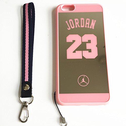 iPhone 6Plus und 6S Plus Jordan 23Schutzhülle, Reflektierende Spiegel Jumpman Cover mit Wrist Lanyard Straps. stoßfest Widerstandsfähige Schutzhülle für iPhone 6Plus und 6S Plus Fall 14cm, Rose (17 6 23 Jordan)