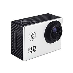 """Mini caméra sport HD 1080p LCD 1,5"""" TFT 170 degrés Waterproof 30M + ACCESSOIRES : sangles, coque, support, attache ..."""