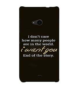 PrintVisa Love Quotes Design 3D Hard Polycarbonate Designer Back Case Cover for Nokia Lumia 535