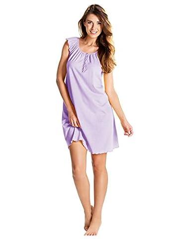 Cybele Damen Nachthemd Sleepshirt Gr. 48 Kobalt Kurzarm Schlafshirt