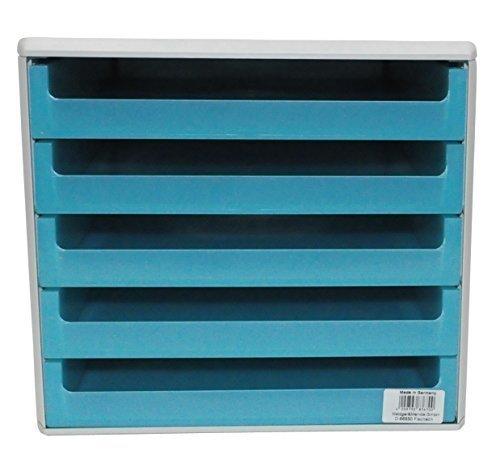 Schubladenbox offen aquamarin-transparent