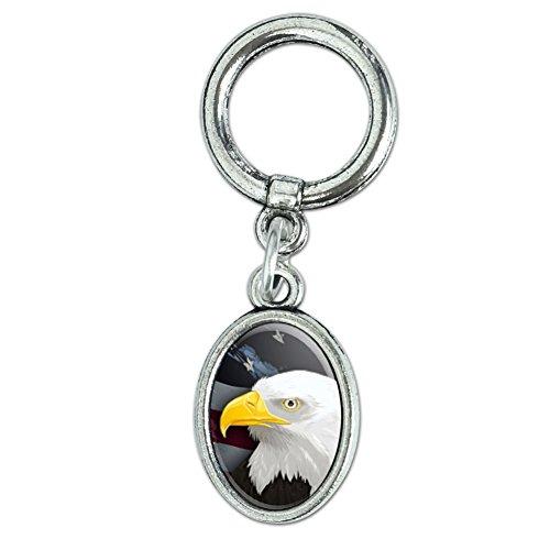 American Bald Eagle–Flagge USA patriotische Schuh Sneaker Schuhbändern Oval Charm Dekoration (Usa-flagge Dekorationen)