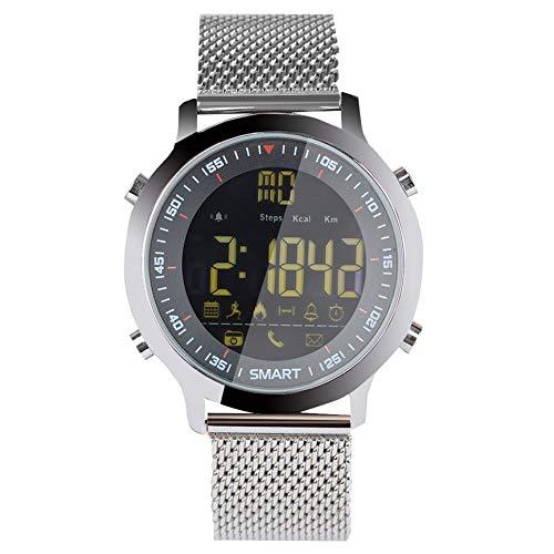 Peanutaod EX18 Sport Smart Watch Schrittzähler Telefon Informationen Wecker Erinnerung wasserdicht leuchtendes Zifferblatt Armbanduhr (Wecker Informationen)