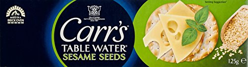Carr's Table Water Crackers Sesame Seeds, 4er Pack (4 x 125 g) (Club Cracker)