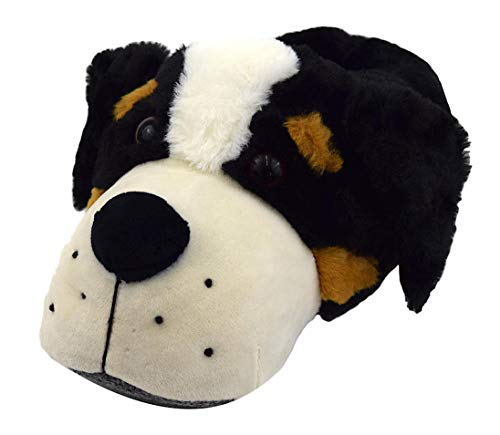 Witzige Herren Plüsch Hausschuhe Treuer Hund lustige Tierhausschuhe Geschenk Idee (43/44)