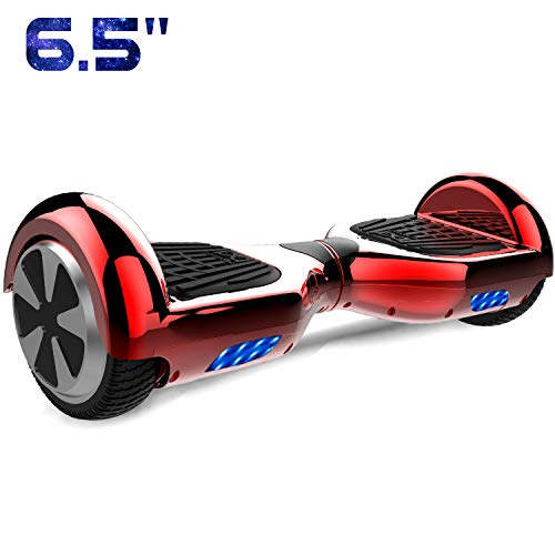 Cool&Fun 6.5' Balance Board Patinete Eléctrico Scooter Talla LED 350W*2 (Chrome Red)