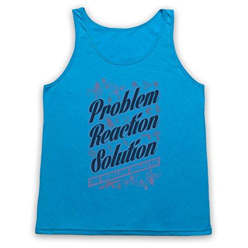 Problem Reaction Solution The Hegelian Dialectic Tank-Top Weste Neon Blau