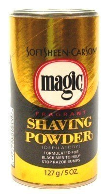 Magic Gold Shaving Powder 4.5 oz. Fragrant (3-Pack) with Free Nail File by Magic