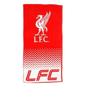 Weiches Velours-Strand-/Badetuch, Baumwolle, Handtuch, Motiv: Offizielles Fußball-Team-Logo (verschiedene Vereine zur Auswahl.), liverpool fc, 140 x 70 cm (Liverpool-fußball-ball)
