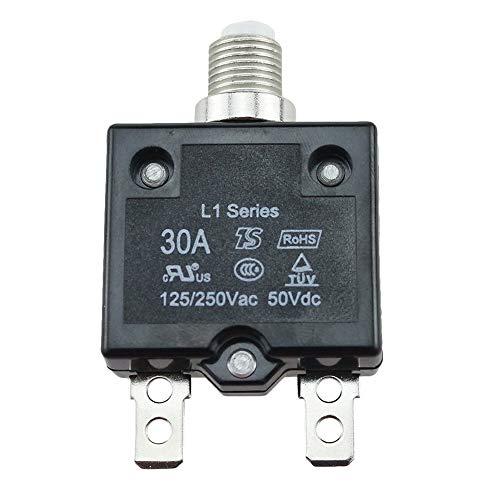 Schutzschalter 5A/10A/ 15A/20A/30AMP Panel Befestigung Druckknopf Geformte Hülle Thermo Rückstellbare Air Schalter Elektrische Schutz (5A5A) - 30a, 30a -